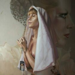 Peter van den Borne Praying for Mathilde Oil on canvas170 x120cm