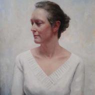 Portret Paulien 2009 olieverf op paneel 50 x 63 cm