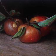 stilleven appels 2010 olieverf op paneel 13 x 22 cm