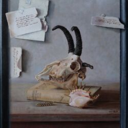 Een hommage en een Jacobsschaap, 57 x 50 cm