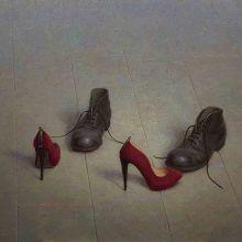 Peer Verrijt Dance me Olie op paneel 70 x 100 cm